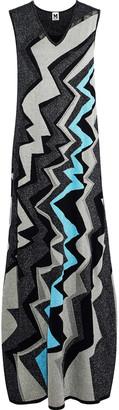 M Missoni Metallic Jacquard-knit Maxi Dress
