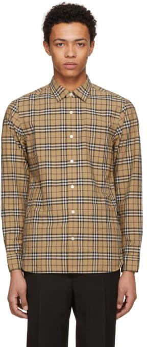 Burberry Beige Plaid Alexander Shirt