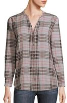 Soft Joie Joie Dane Plaid Blouse