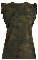 The Upside Camouflage-print cotton tank top