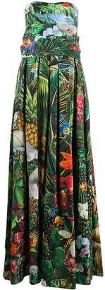 Dolce & Gabbana Jungle-Print Floor-Length Dress