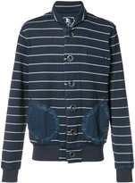 PRPS high neck striped cardigan - men - Cotton - XL