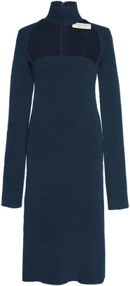 Bottega Veneta Cutout Turtleneck Stretch-Wool Crepe Dress