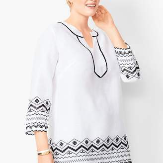 Talbots Plus Size Embroidered Tunic