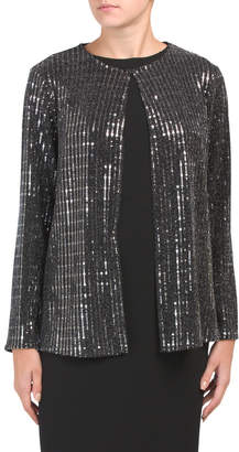 Long Sleeve Sequin Jacket