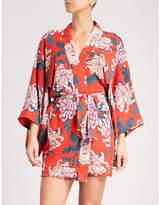 Fleur Du Mal Haori floral-print silk-crepe kimono