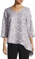 Caroline Rose Mosaic Moonbeam Asymmetric Tunic