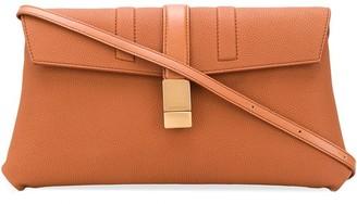 Agnona pebbled leather shoulder bag