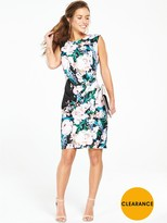 Wallis Petite Floral Ruched Side Dress