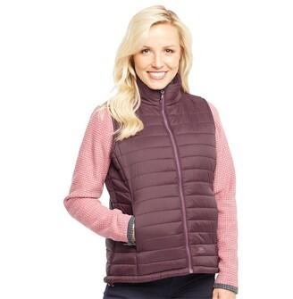 Trespass Womens Padded Gilet Vest Potent Purple