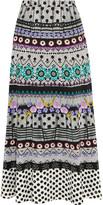 Temperley London Marley printed crepe maxi skirt