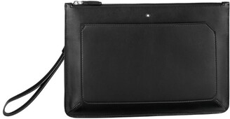 Montblanc Leather Meisterstuck Urban Zipped Clutch Bag
