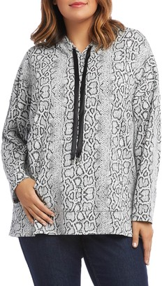 Karen Kane Snake Jacquard Hooded Sweatshirt