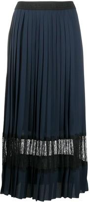 Karl Lagerfeld Paris Pleated Lace Skirt
