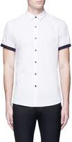 Topman Polka dot cuff poplin shirt