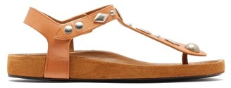 Isabel Marant Enorie Studded Leather Sandals - Womens - Tan