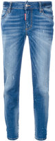 DSQUARED2 cropped skinny jeans - women - Cotton/Polyester/Spandex/Elastane - 36