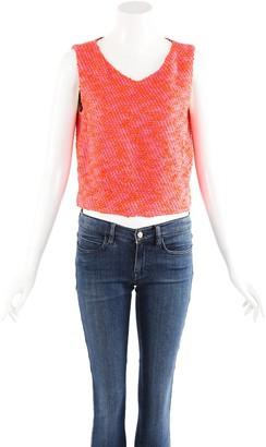 Chanel Tweed Silk-Blend Top, Size Fr 40