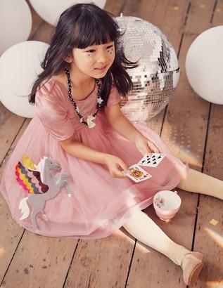 Boden Velvet Applique Dress