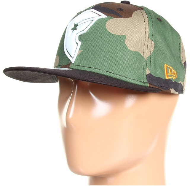 Famous Stars & Straps BOH Fatigue New Era Snapback Hat (Camo/White/Black) - Hats