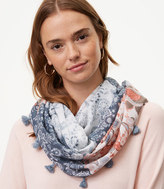 LOFT Floral Patchwork Infinity Scarf