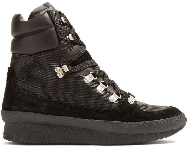 Isabel Marant Brendty canvas and leather ankle boots