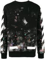 Off-White Galaxy brushed print sweatshirt
