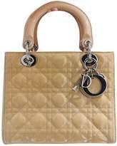 Christian Dior Lady Yellow Patent leather Handbags