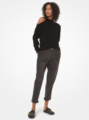 MICHAEL Michael Kors Cotton Asymmetric Turtleneck Sweater