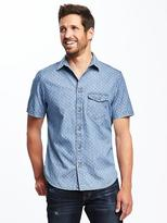 Old Navy Slim-Fit Patterned Classic Shirt for Men