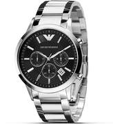Emporio Armani Slim Black Watch with Steel Bracelet, 43mm