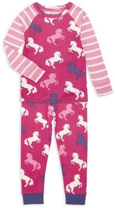 Hatley Little Girl's & Girl's Playful Horses 2-Piece Pajama Set