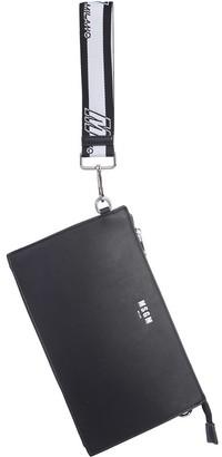 MSGM Black Signature Crossbody Bag