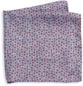 Saks Fifth Avenue Mini Pebble Print Silk Pocket Square
