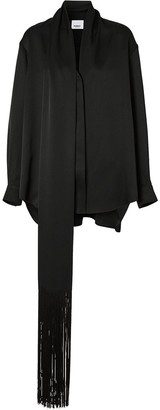 Burberry Scarf-Detail Silk Shirt