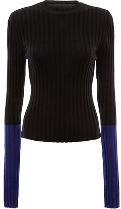 J.W.Anderson Ribbed Contrast Sleeve Sweater
