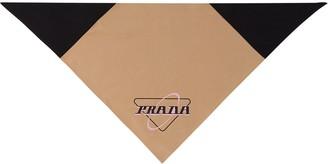 Prada Logo Print Scarf
