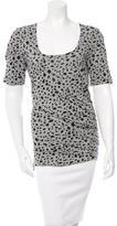 Alessandro Dell'Acqua Ruched Leopard Print Top