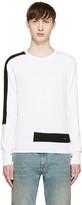 DSQUARED2 White and Black Techno Sweater