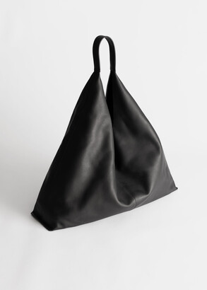And other stories Smooth Leather Tote Bag