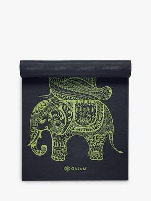 Gaiam Premium Tribal Wisdom 6mm Yoga Mat, Blue/Green