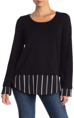 Olivia Sky Mixed Media Sweater