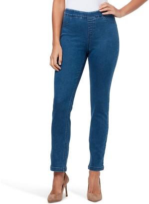 Gloria Vanderbilt Women's Joey Pull-On Straight-Leg Jeans