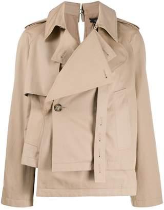 Rokh short trench jacket