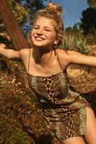 Motel Datista Leopard Mini Slip Dress