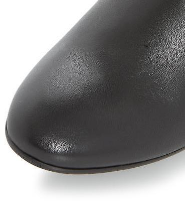 Roberto Vianni Ladies SIVARNA Block Heel Leather Knee High Boot in Black