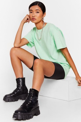 Nasty Gal Womens Get Back to Basics Crew Neck Fitted Tee - Mint