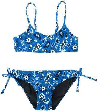 Mc2 Saint Barth Kids Paisley Print Bikini Set