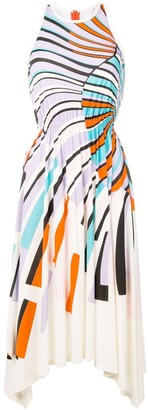 Emilio Pucci Shell-Print asymmetric dress