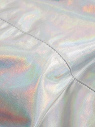 Norma Kamali High-rise Iridescent Bikini Briefs - Silver